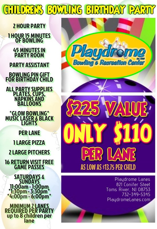Party Packages Playdrome Lanes